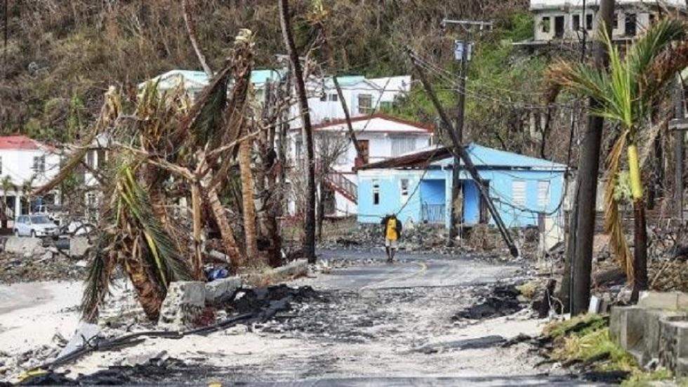 Calles de Puerto Rico tras el huracán María. Foto de EFE