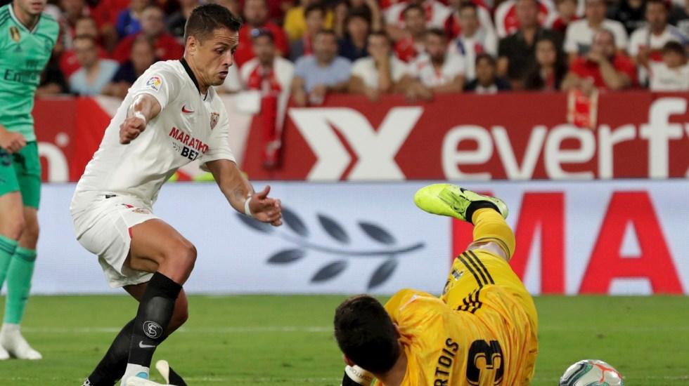 #Video Anulan gol del empate de 'Chicharito' ante Real Madrid - Chicharito Javier Hernández gol Sevilla Real Madrid