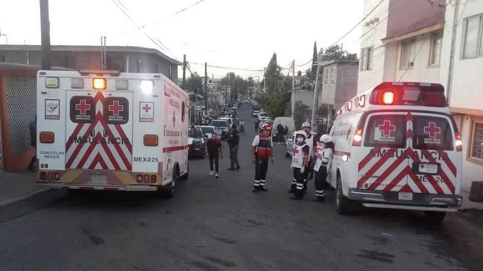Incendio en bodega de Coacalco deja al menos 11 lesionados - Foto de Cruz Roja