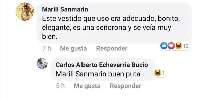 Comentario ofensivo Beatríz Gutiérrez Facebook