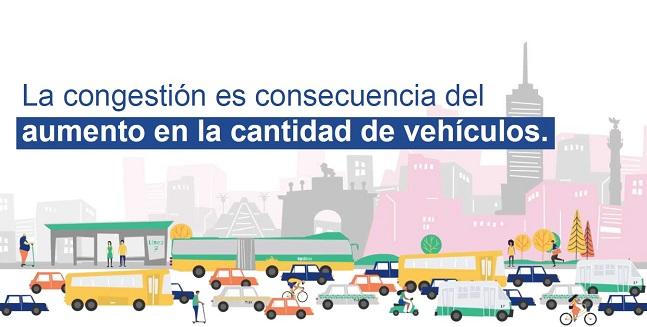 Congestión vial en México. Foto de Imco