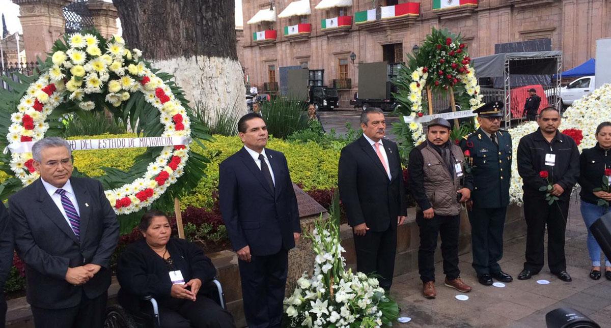 Conmemoración del 10mo aniversario de atentado en Morelia. Foto de Mi Morelia