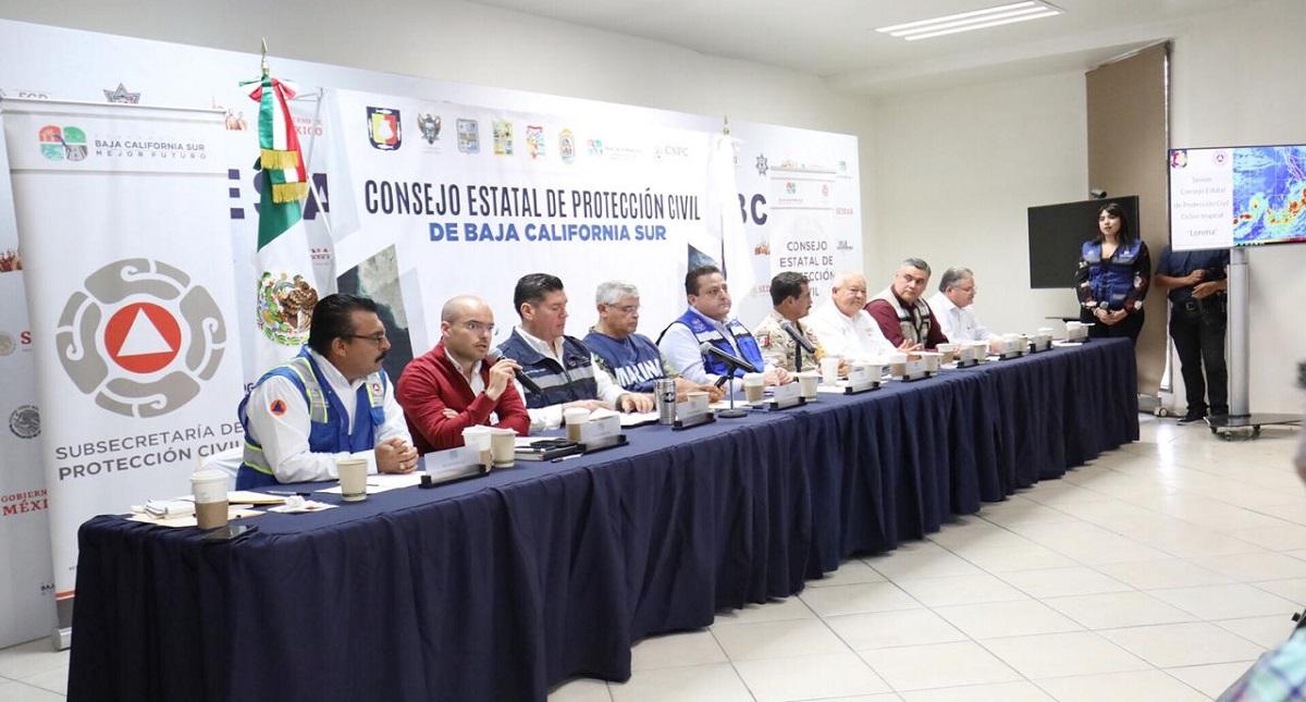 Consejo Estatal de Protección Civil de Baja California Sur. Foto de @cmendozadavis