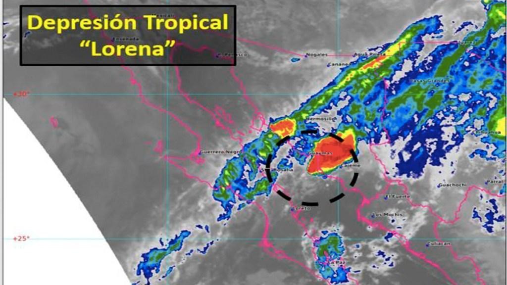 Lorena se degrada a depresión tropical al internarse en Sonora - Lorena se degrada a depresión tropical y se interna en sonora