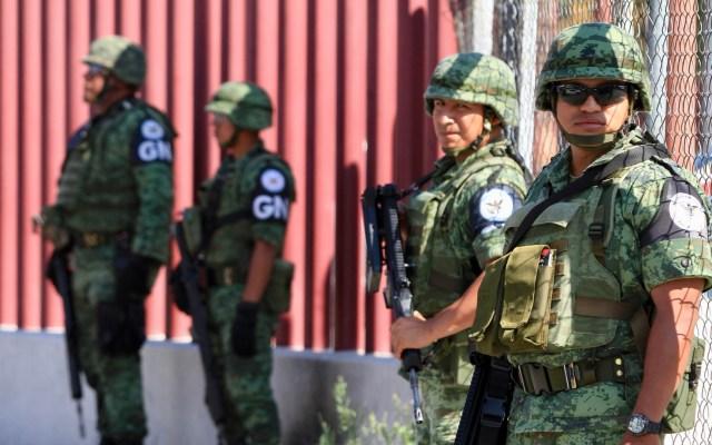ONU pide a México desmilitarizar Guardia Nacional y resolver caso Ayotzinapa - Elementos de la GN. Foto de Notimex
