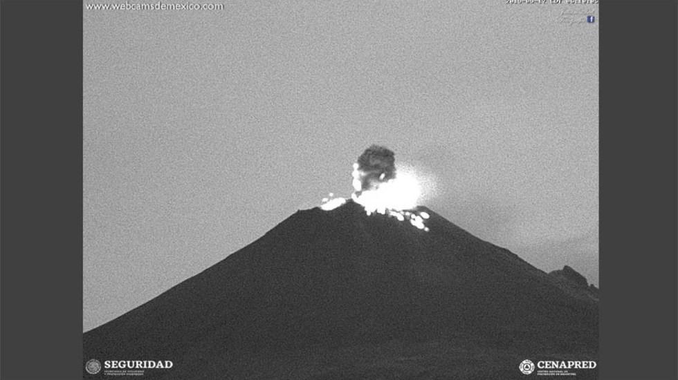 Volcán Popocatépetl registra 12 explosiones en las últimas 24 horas - explosiones popocatépetl