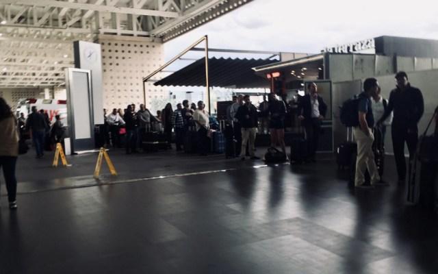 AICM extiende servicio de Aerotrén por bloqueo - Foto de @piojiux
