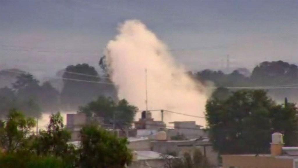 Toma clandestina genera fuga de gas en Acolman. Noticias en tiempo real