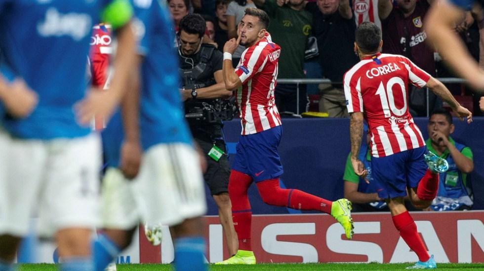 Héctor Herrera le da el empate al Atletico de Madrid frente a la Juventus - Foto de EFE