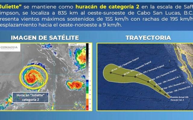 Huracán Juliette se degrada a categoría 2 - huracan juliette