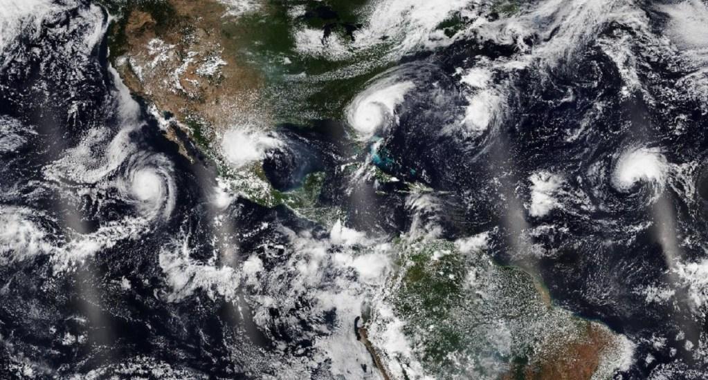 Dorian se desvanece y da paso a la tormenta tropical Gabrielle - Ciclones Juliette, Fernand, Dorian y Gabrielle. Foto de @JPSSProgram