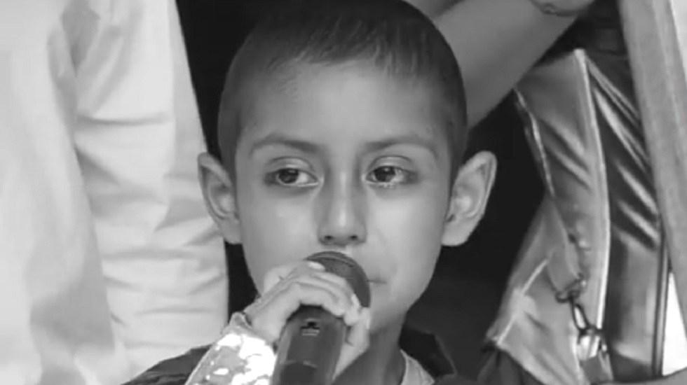 Murió Jonathan, niño con cáncer que cumplió sueño de conocer el mar - Jonathan. Foto de @FHFMichoacan