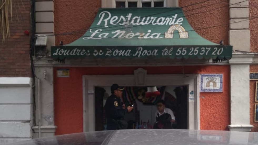 Asesinan a sujeto en restaurante de la colonia Juárez - Foto de @beja34