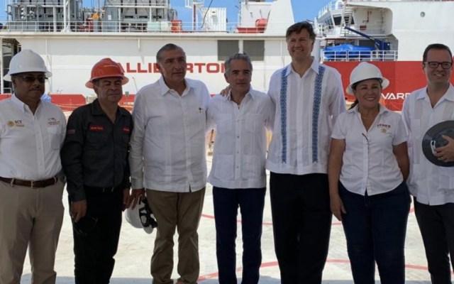 Embajador de EE.UU. inaugura planta petrolera en Dos Bocas, Tabasco - Foto de @rocionahle
