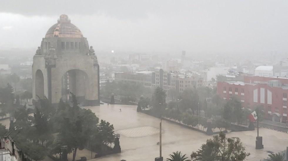 Alerta Naranja por lluvia en tres alcaldías de la Ciudad de México - Foto de @ANALUCIAHILL