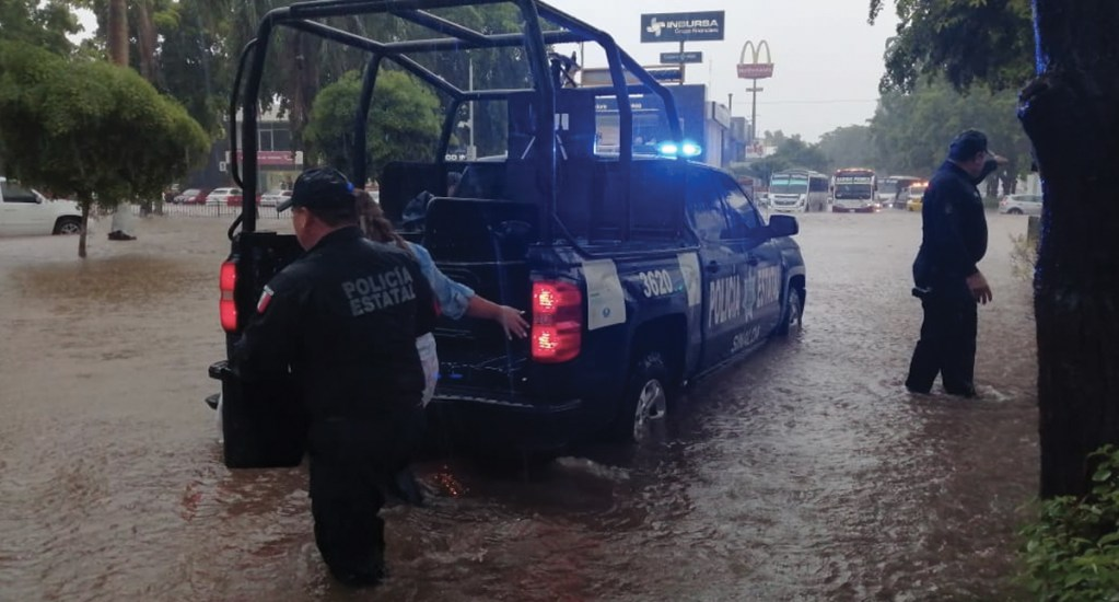 #Video Intensas lluvias afectan Culiacán - Foto de @sspsinaloa1