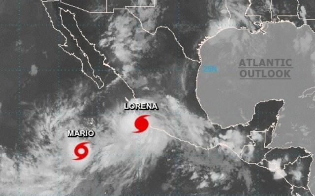 Suspenden clases en todo Colima por huracán Lorena - Foto de NOAA