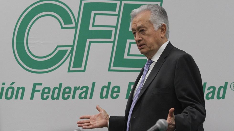 Todos mis bienes están declarados: Manuel Bartlett - El director de la Comisión Federal de Electricidad, Manuel Bartlett. Foto de Archivo Notimex- Gustavo Durán.