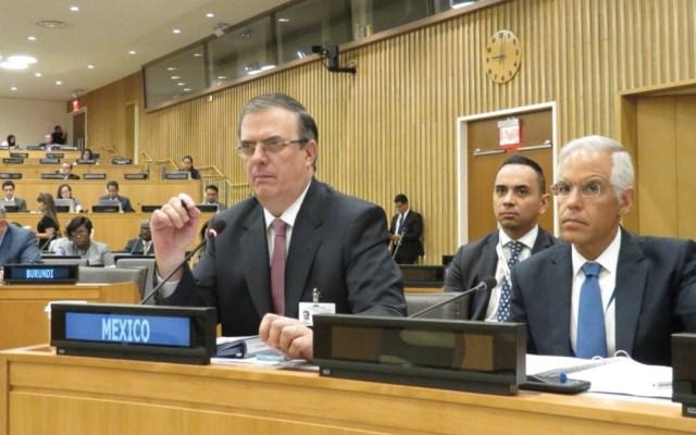 México refrenda acciones para el desarrollo humano y la paz - Foto de Twitter SRE
