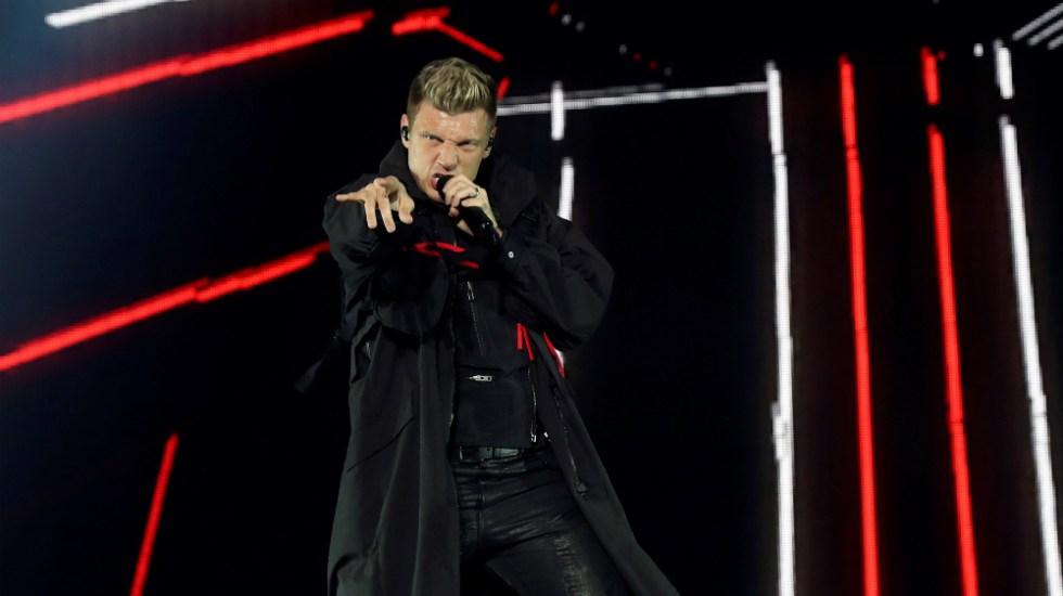 Nick Carter, de Backstreet Boys, pide orden de alejamiento contra su hermano - Nick Carter durante un concierto de Backstreet Boys. Foto de EFE