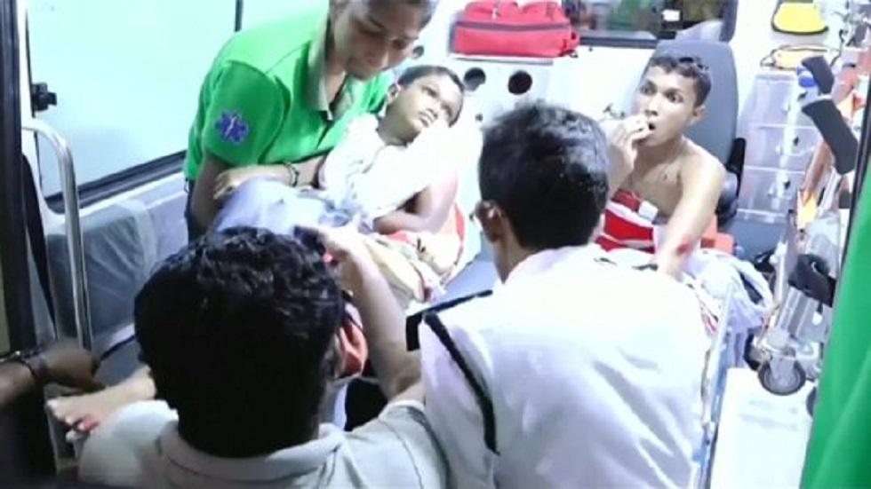 Niños heridos. Foto de Derana Tv