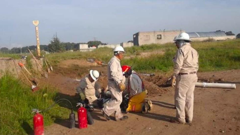 Pemexconcluye trabajos de excavación y saneamiento en toma clandestina de Ecatepec - toma clandestina