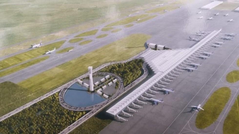 SCT presenta rediseño del espacio aéreo para Santa Lucía, AICM y Toluca - Plano del Aeropuerto Internacional de Santa Lucía. Foto de Forbes
