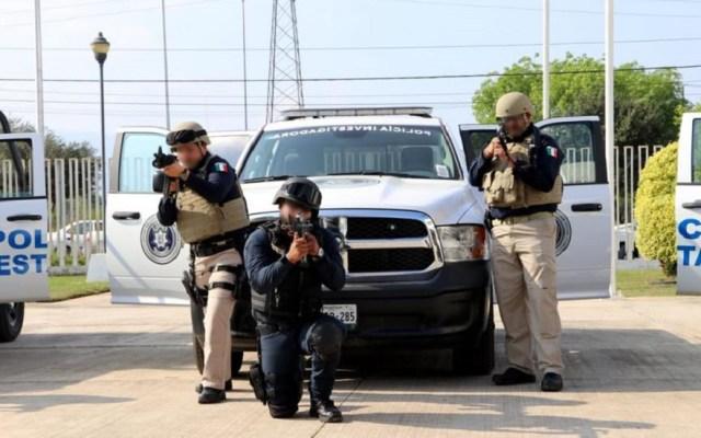 Designan a fiscal especial por ejecución extrajudicial en Nuevo Laredo - Policía estatal de Tamaulipas. Foto de @PGJTAM