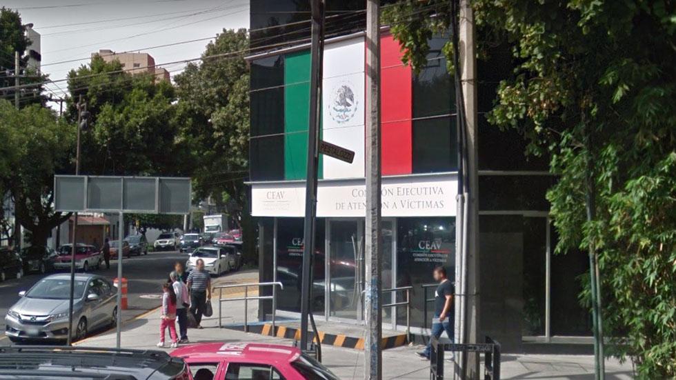 AMLO propone a tres mujeres para dirigir Comisión de Atención a Víctimas - Sede de la CEAV. Foto de Google Maps