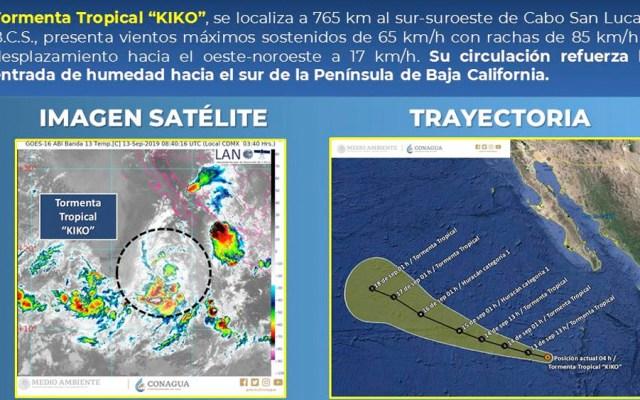 Tormenta tropical Kiko se localiza a 765 km de Cabo San Lucas - tormenta tropical kiko