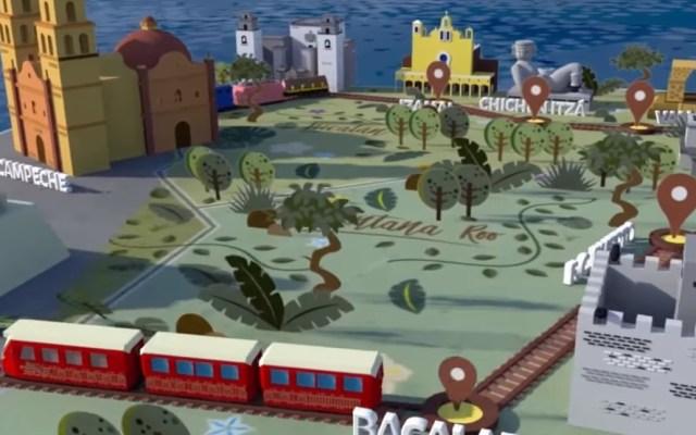 Licitan el primer tramo del Tren Maya a consorcio internacional - Animación del Tren Maya. Captura de pantalla