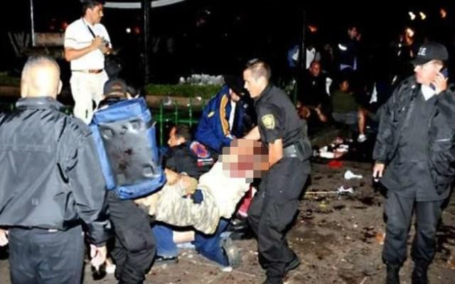 Se cumplen 11 años del ataque en celebración del Grito de Independencia de Morelia - Víctimas de explosión de granada en Plaza Melchor Ocampo. Foto Especial / Archivo