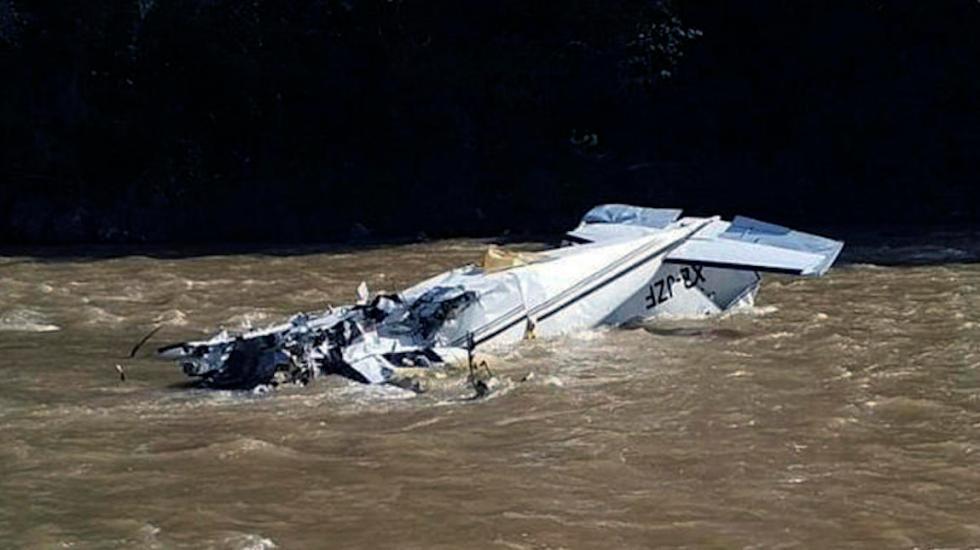Identifican a las víctimas del accidente aéreo en Michoacán - Foto Especial.
