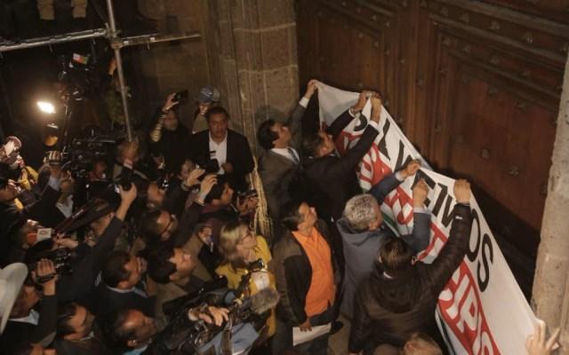 Debe investigarse uso de gas lacrimógeno contra alcaldes: Segob - Alcaldes Palacio Nacional gas lacrimógeno