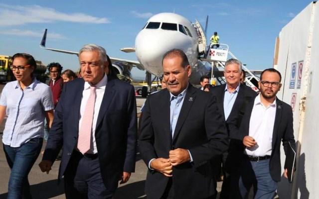 Se licitarán todos los parques industriales del Istmo: López Obrador - López Obrador en su visita a Aguascalientes