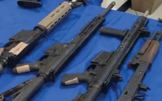 Decomisan arsenal en Río Bravo, Tamaulipas - Foto de Twitter