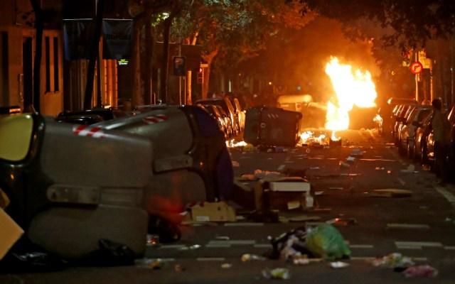 Nuevo día de protestas independentistas en Cataluña deja 14 heridos - Foto de EFE