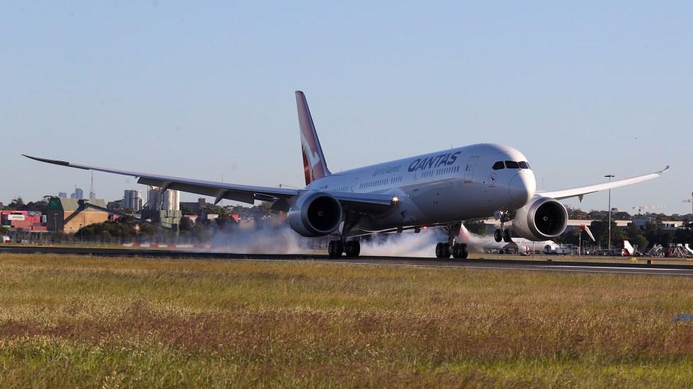 Aerolínea australiana realiza el vuelo comercial más largo del mundo - Boeing en el que se completó el ensayo de vuelo comercial más largo del mundo. Foto de EFE