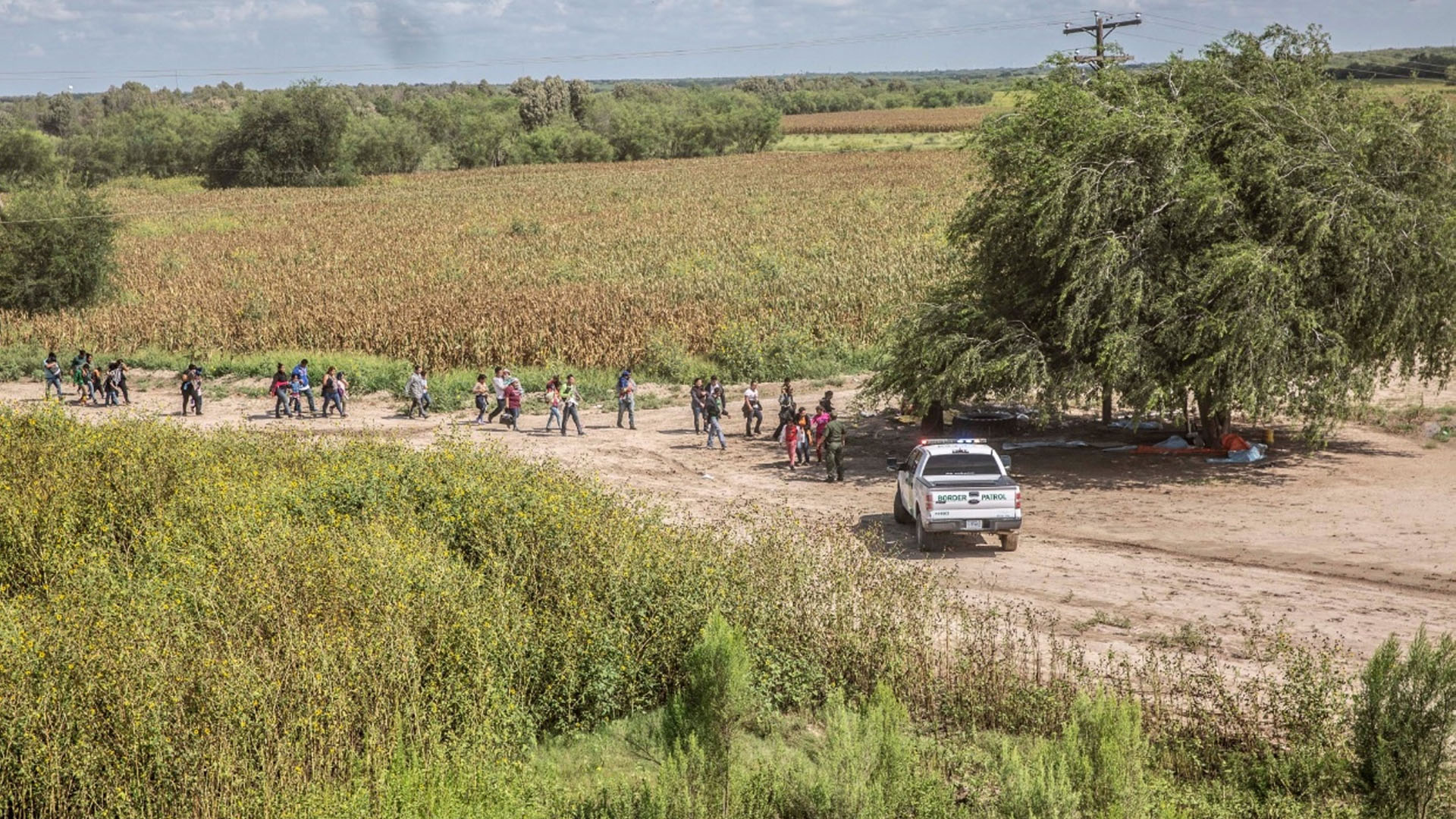 Centroamericanos detenidos por la Patrulla Fronteriza de EE.UU. Foto de Notimex