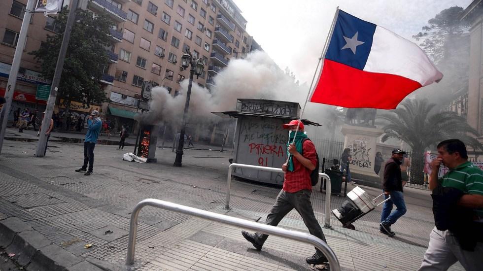 Llaman a marcha en la Ciudad de México para apoyar protestas en Chile - Chile protestas manifestaciones disturbios 23102019