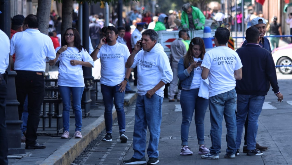 Reportan disturbios en marcha por el 2 de octubre en cdmx