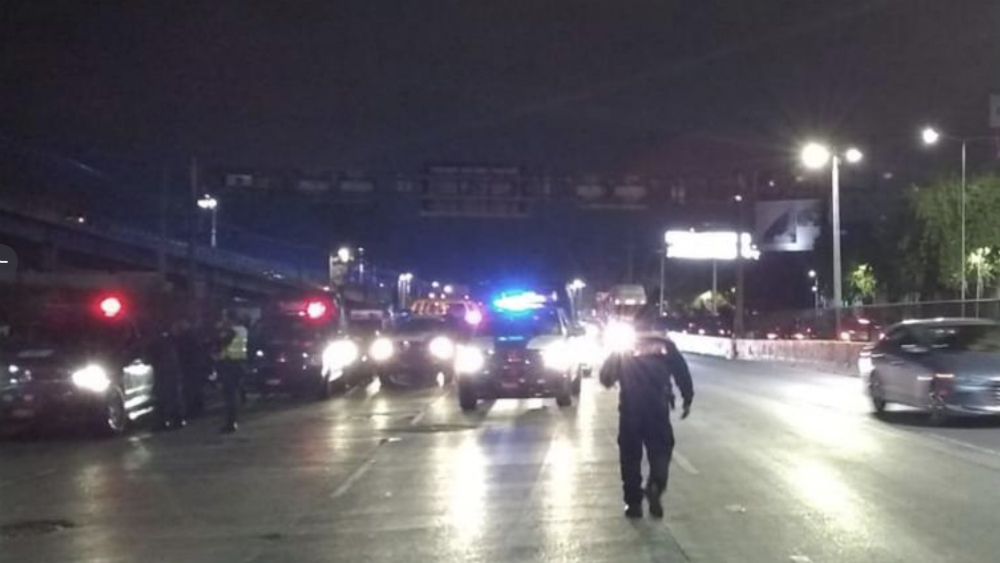 Policías federales retiran bloqueo de Circuito Interior y AICM - Foto de @OVIALCDMX