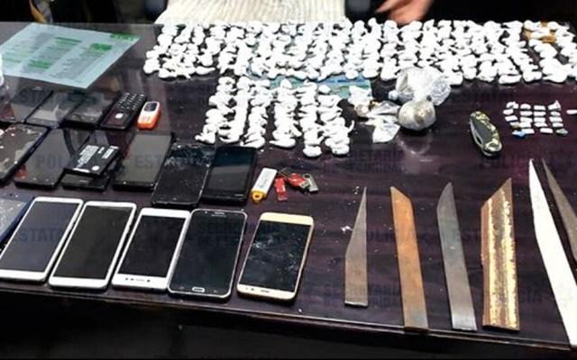 Decomisan droga, celulares y puntas de metal en penal de Cuautitlán - Decomiso drogas cárcel Cuautilán Estado de México