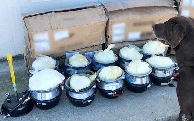 Decomisan droga oculta en empresa de paquetería en Tijuana - droga tijuana