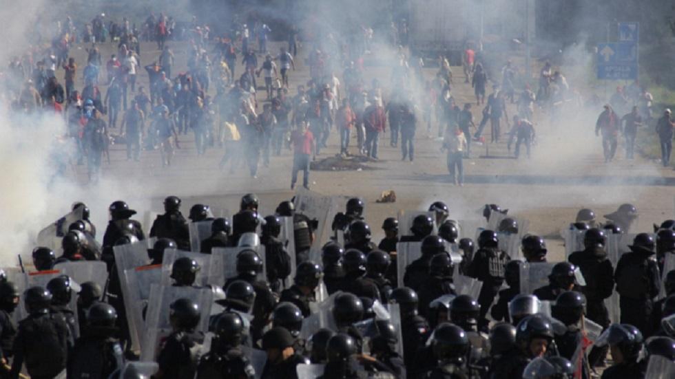 Detienen a dos ex mandos policiales por caso Nochixtlán - Enfrentamiento en Nochixtlán, Oaxaca, del 19 de junio de 2016. Foto de CCE