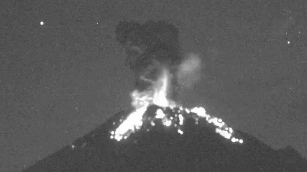 #Video Explosión del Popocatépetl arroja fragmentos incandescentes - Explosión del Popocatépetl 4 oct 19. Captura de pantalla