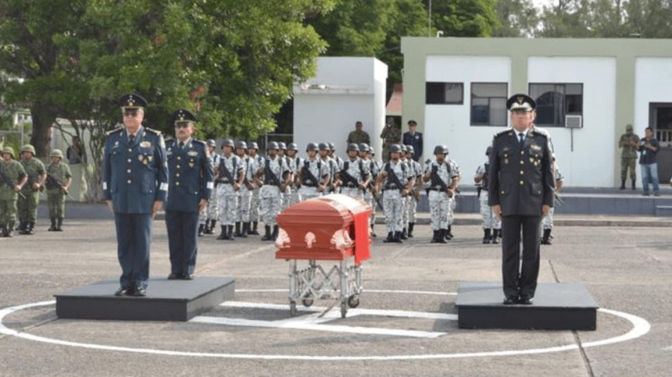 Realizan funeral de integrante de la GN que murió en balacera de Culiacán - Foto de @GN_MEXICO_