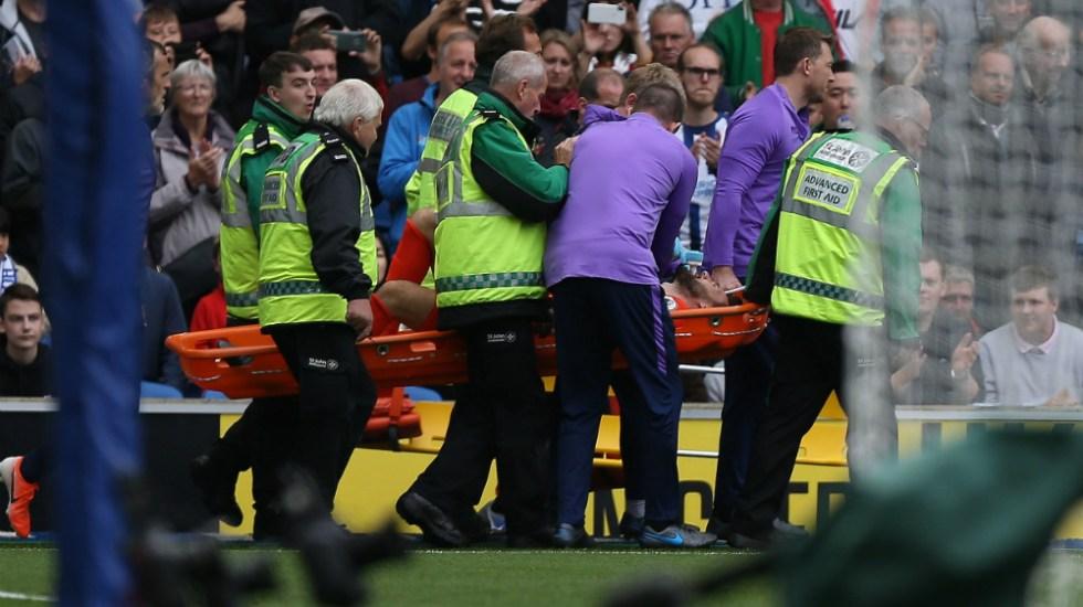 #Video Hugo Lloris sufre aparatosa lesión - Foto de EFE