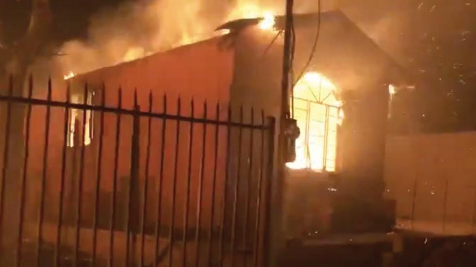Al menos 35 viviendas destruidas por incendios en Baja California - Captura de pantalla