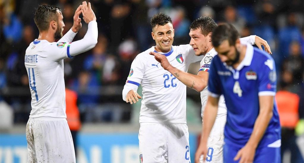 Italia golea a Liechtenstein y se mantiene como primero de grupo para la Euro - Italia golea al Liechtenstein y califica a la Euro